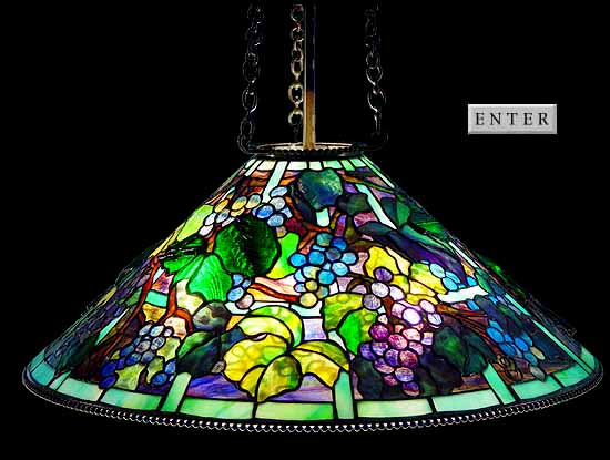 "29"" GRAPEVINE Tiffany lamp"