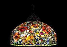 TIFFANY Oriental Poppy floor Lamp