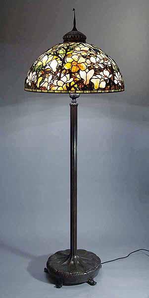 The 28 magnolia tiffany lamp and bronze floor lamp base the 28 magnolia tiffany lamp mozeypictures Images
