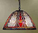 American Indian Tiffany Lamp