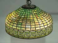 Greek key Tiffany Lamp