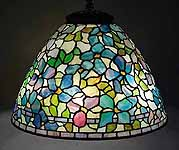 "21"" CLEMATIS TIFFANY LAMP"