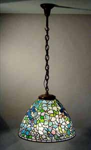 "21""CLEMATIS TIFFANY HANGING LAMP"