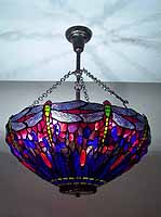 "22"" DRAGONFLY TIFFANY HANGING LAMP"