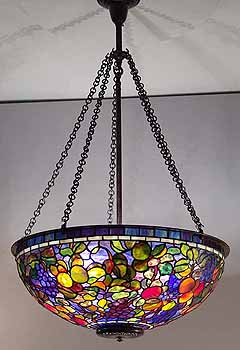 24 fruit tiffany chandelier leaded glass and bronze 24 fruit tiffany lamp aloadofball Images