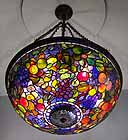 Tiffany Lamp Fruit Chandelier