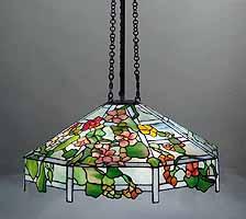 NASTURTIUM TIFFANY HANGING LAMP