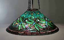 28 Inch Swirling Dragonfly Tiffany Lamp