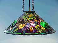 Grape Tiffany hanging lamp (cone)