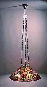 "29.5"" TIFFANY HANGING LAMP DRAGONFLY"