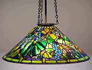 "28"" Grape Tiffany hanging lamp (cone)"