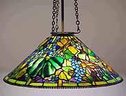 "28"" Grape Tiffany hanging lamp (cone)"