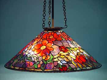 28 Quot Peony Cone 603 Tiffany Leaded Glass And Bronze