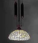Geometric tiffany lamp