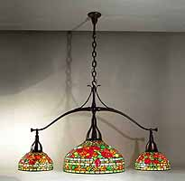 Nasturtium Tiffany pooltable hanging lamp