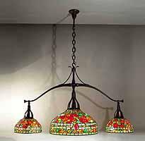 Nasturtium Tiffany pooltable hanging lamp