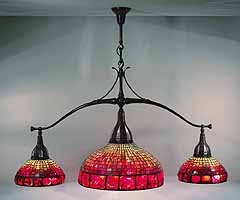 Tiffany pool table lamp
