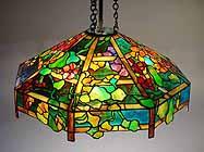 Nasturtium Trellis Tiffany Lamp