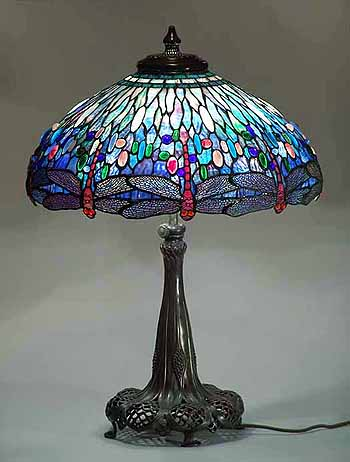 Tiffany lamps tiffany floor lamp desk lamps table lamps for 1908 studios tiffany blue dragonfly floor lamp