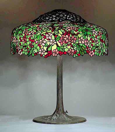25 cherry tree tiffany lamp design 351 of tiffany studios ny. Black Bedroom Furniture Sets. Home Design Ideas