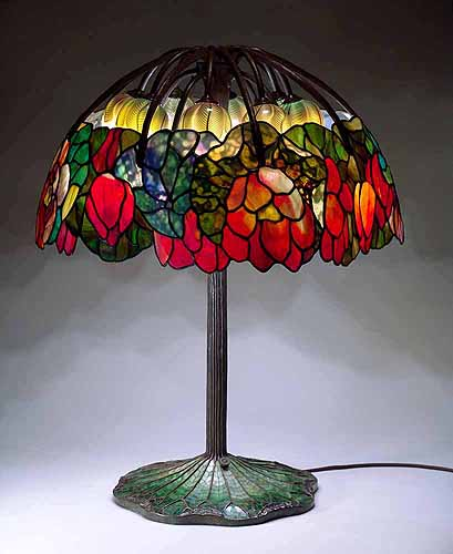 The pink lotus lamp a design of tiffany studios new york click here for oversized picture aloadofball Image collections