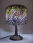 Pony Wisteria Tiffany table lamp