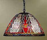 American Indian Tiffany hanging Lamp