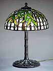 BLACK BAMBOO TIFFANY LAMP
