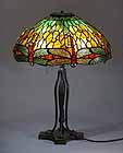 Tiffany desk lamp Dragonfly dome 18""