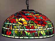 Tiffany hanging lamp Oriental Poppy