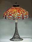 Tiffany Dragonfly table lamp 22""