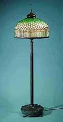 Tiffany Floor lamp Curtainborder green
