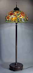 Oriental Poppy Tiffany Floor lamp