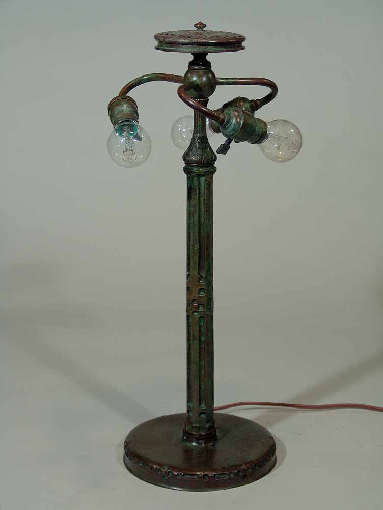 Indian bronze cast lamp base design of tiffany studios for Floor lamp stand online india