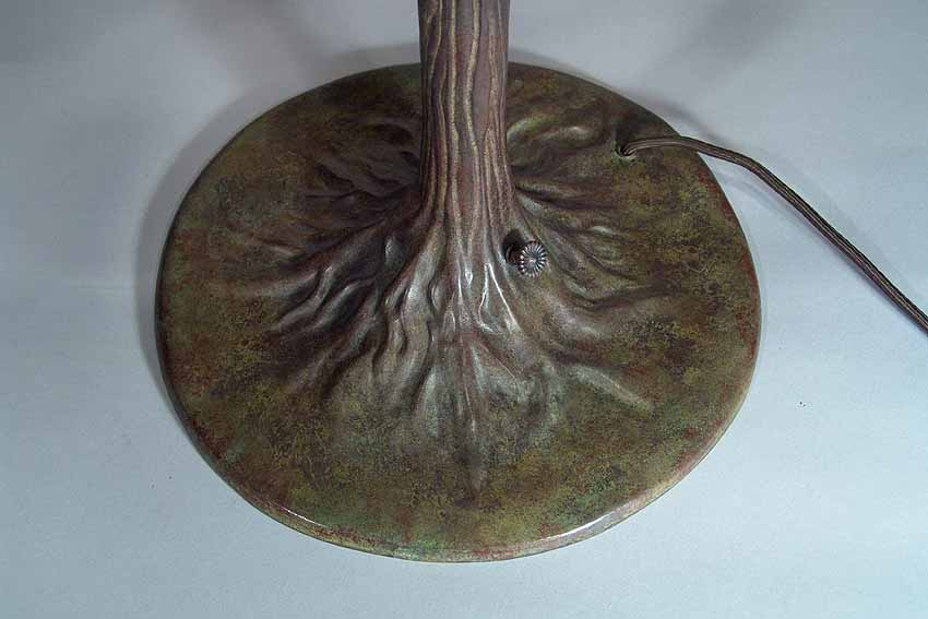 Large Tree Trunk #553 Bronze casted Tiffany Lamp Base