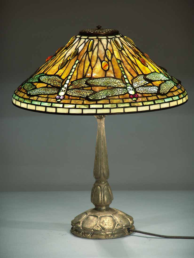 20 dragonfly tiffany lamp on mock turtle gold for 1908 studios tiffany blue dragonfly floor lamp