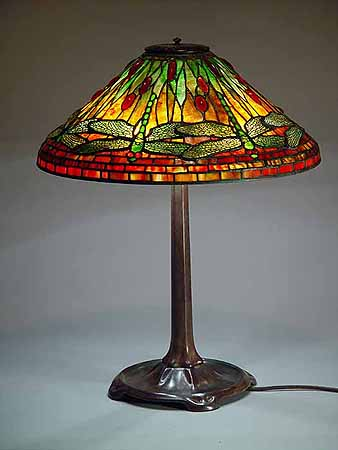 20 dragonfly tiffany lamp cone stick base. Black Bedroom Furniture Sets. Home Design Ideas