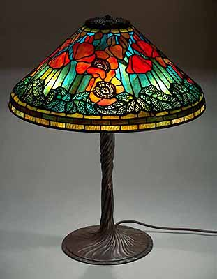 20 poppy tiffany lamp. Black Bedroom Furniture Sets. Home Design Ideas