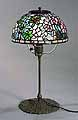 "The 10"" Azalea Lamp of Dr.Grotepass-Studios. Tiffany Lamps and Bronze Lamp Bases. Stained glass Designs of Tiffany Studios New York : Leaded glass Lamps, Lamp fixtures and Tiffany Bronze Items, Table lamps, Desk lamps, Floor lamps, Ceiling lamps, Hanging lamps"