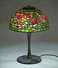 "12"" Nasturtium Tiffany Lamp designed by Dr. Grotepass"