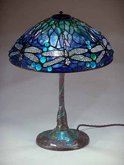 14 Quot Dragonfly Tiffany Lamp Design Of Tiffany Studios New York