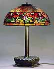 "16"" POINSETTIA TIFFANY TABLE LAMP"
