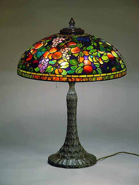 Tiffany lamp 24 fruit two seasons 1519 for Tiffany lampen