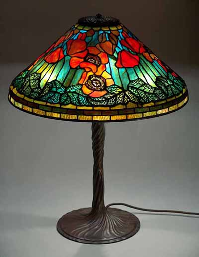 Tiffany Lamp Shades Flowered Cones